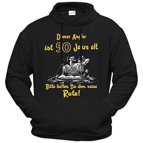 getshirts - RAHMENLOS® Geschenke - Hoodie - Fischen - Angeln - Dieser Angler ist 50 Jahre alt