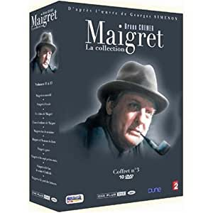 Maigret - Volume 3 10 DVD Set ( Maigret en meublé / Maigret à l'école / Un échec de Maigret / L'ami d'enfance de Maigret / Maigret chez le ministre / etc. ) [ English subtitles ]