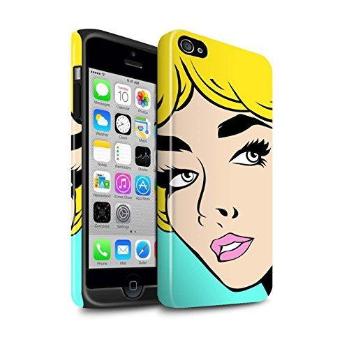 stuff4phone-case-cover-skin-ip4s-de-3dtbg-comic-illustrated-girls-collection-blondes-haar