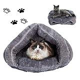 Sforza Hundekorb Klein Mini Katzenbett Geflochten Hunde und Zubehör S