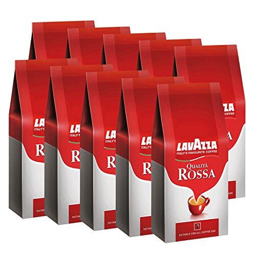 Lavazza Qualità Rossa, ganze Bohnen, 10er Pack (10 x 1 kg Packung)