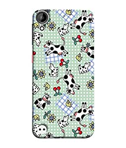 PrintVisa Designer Back Case Cover for HTC Desire 530 (Cow milk Blanket)