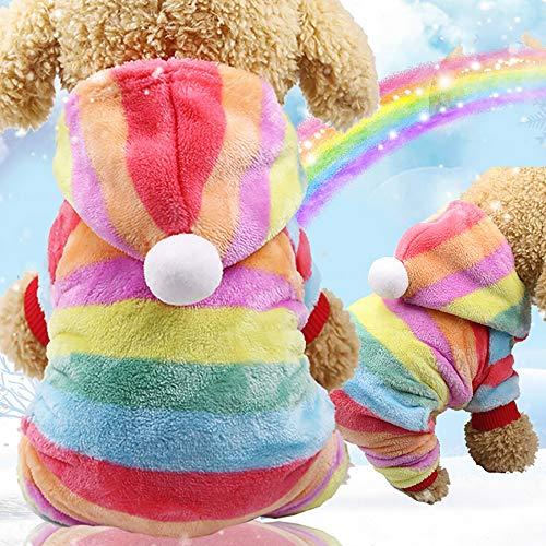 Berrose-Haustier Hund Flanell Kleider Haustiere Kleidung Christmas Kapuzenpullover für Hunde Bekleidung Winter Fleece Warmer Pullover Sweatshirt Welpe Hundehund Doggy Mode