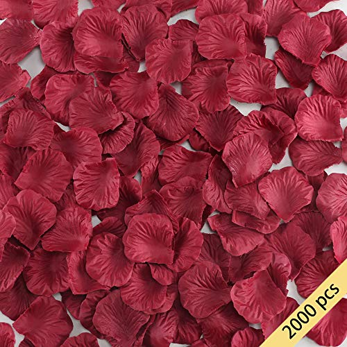 HO2NLE Künstliche Blumen Seiden-Rosenblätter Großhandel Home Party Zeremonie Hochzeit Dekoration Art Deco rot (Von Nähe In City Party Der)