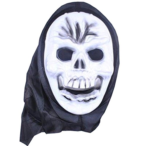 Punk Männlich Kostüm (Nihiug Latex Hölle Männliche Horror Maske Mit Geistern Halloween Fancy Dress Kopfbedeckung Skeleton Mystical Haunted Horror Halloween)