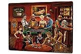 Cartello Targa in Metallo XXL USA Native saloon poker roulette