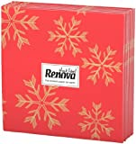 20 X Renova Christmas Snow Flakes Design Napkins (1 Pack)