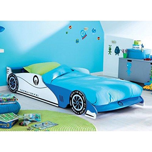 Autobett inkl.Rollrost + Matratze 90*200 cm Kinderbett Autorennbett Rennautobett Jugendbett Jugendliege Bettliege Bett Einzelbett Kinderzimmer