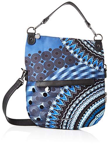 Desigual Damen Bag Friend Folded Umhängetasche, Blau (Blue Indigo), 35.5x3x31 cm