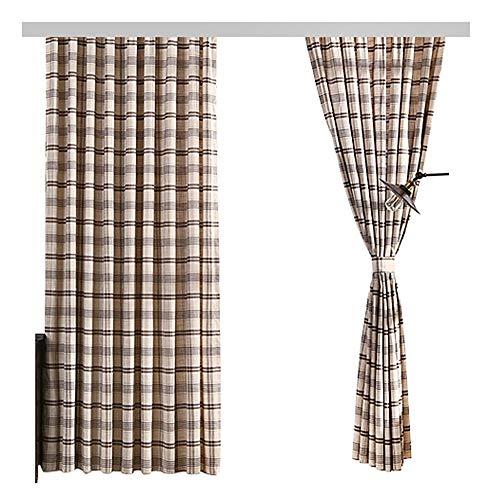 Gardinenstange mit Streifenmuster, Bedruckt, für Wohnzimmer, Kinderzimmer, Schlafzimmer - 001 (1 Panel, B 127 x L 213 cm, braun), Polyester-Mischgewebe, braun, 50W x 95L Inch, 1 Panel