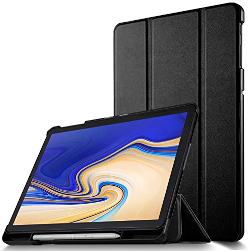 IVSO Samsung Galaxy Tab S4 T830/T835 Hülle, Slim zubehör Schutzhülle mit Auto Aufwachen/Schlaf Funktion Geeignet für Samsung Galaxy Tab S4 T830/T835 10.5 Zoll 2018 Tablet PC, Schwarz