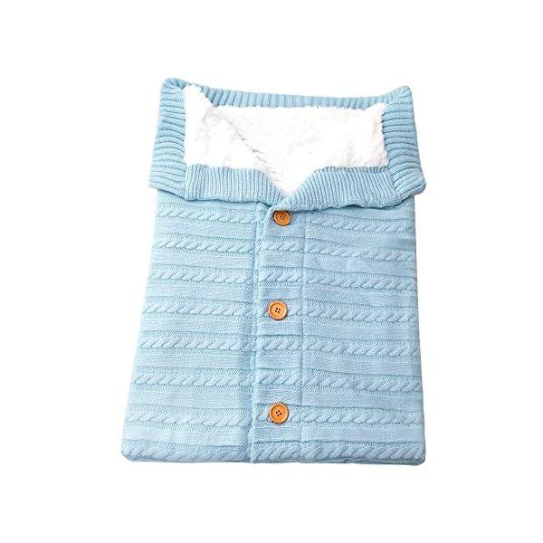 Sacos de Dormir + Pegatinas de Navidad para Bebe recién Nacido Manta de Punto Crochet Invierno cálido Bolsa de Dormir… 2