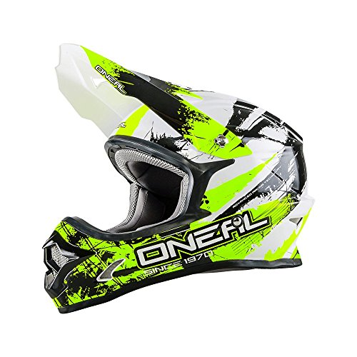 Casco Mx Oneal 2016 3Series Shocker Nero-Neon Giallo (M , Nero)