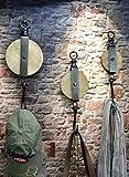 Livitat® Wandhaken Flaschenzug Metall Industrie Design Vintage Loft LV5095/1