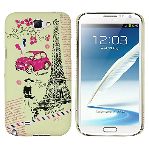 Heartly World Series Printed Design High Quality Hard Bumper Back Case Cover For Samsung Galaxy Note 2 N7100 - Off White + Pink  available at amazon for Rs.149