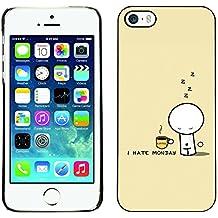 """STPlus """"I Hate Monday"""" Message Comique Coque Rigide Étui Cache pour Apple iPhone SE / 5 / 5S"""
