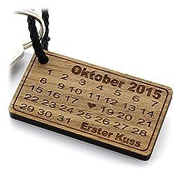 Lieblingsmensch Holz Schlüsselanhänger - Herztag Kalender