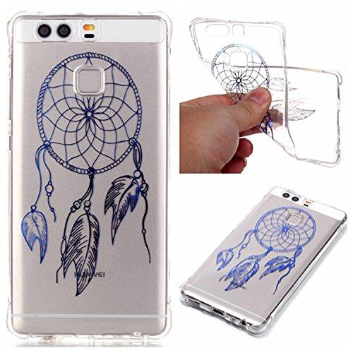 Qiaogle Telefon Case - Weiche TPU Case Silikon Schutzhülle Cover für Apple iPhone 7 (4.7 Zoll) - YY02 / I love you YY07 /Blau Dream Catcher