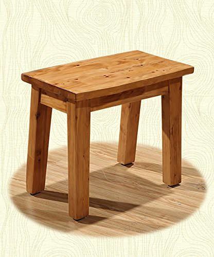 WUFENG Portable Nature Cedarwood Rectangle Tabouret Petit Banc, Couleur Brun Clair, 50 * 27 * 41cm