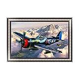 rawuin DIY 5D Aircraft Diamant Stickerei Gemälde Kreuz Crafts Stitch Home Wand-Decor (# 513)