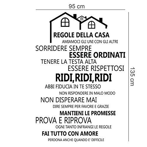 Wallflexi adesivi da muro regole della casa italian for Regole per casa