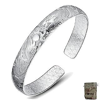 Original Enez Armband Armreifen 999 Sterling Silber plattiert Schmuck Ø 6,0 cm + Geschenkbeutel R2209