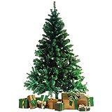 Wohaga Sapin de Noel Artificiel avec Support d'arbre de Noël 600 Branches synthétique Arbre Décoration