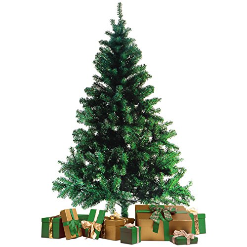 Wohaga Sapin de Noel Artificiel avec Support d'arbre de Noël 600 Branches synthétique...