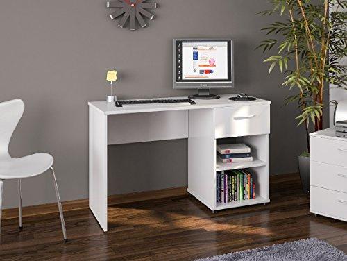 Desk or Dressing Table White 1 Drawer 2 Shelves London Bedroom Furniture