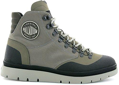 Palladium Uomo Pallasider Hiker Mid Boots, Multicolore Grau (Fallen Rock/Black)
