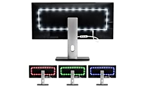 Luminoodle Color Bias Lighting - Medium - 15 Color USB Powered TV Lights - RGB LED TV and Monitor Strip Light Kit