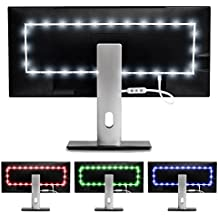 Luminoodle Color Bias Lighting - Medium - 15 Color USB Powered TV Lights - RGB LED TV and Monitor Strip Light Kit