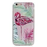 BONROY Hülle für iPhone SE/5S/5 mit Stoßdämpfung - Schlafende Flamingos