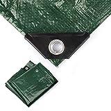 Minuma Abdeckplane 3 x 3 m | PE120gr in grün | mit verstärkten Metallösen | reißfest, stabil, wasserfest, abwaschbar und schimmelresistent | Beschichtung beidseitig