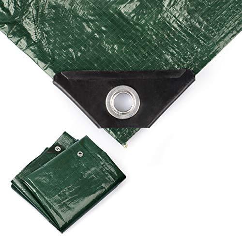 Minuma Abdeckplane 2 x 3 m   PE120gr in grün   mit verstärkten Metallösen   reißfest, stabil, wasserfest, abwaschbar und schimmelresistent   Beschichtung beidseitig