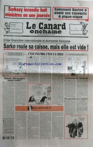 CANARD ENCHAINE [No 4587] du 24/09/2008 - SAKORZY ...