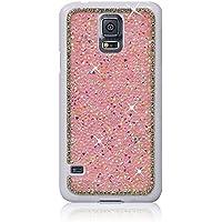 Xtra-Funky Esclusivo Samsung Galaxy S5 (i9600) Rhinestone di cristallo Rocks cassa dura con Sparkling Diamante Bordatura e Cromato Applicazioni Rim - Rosa