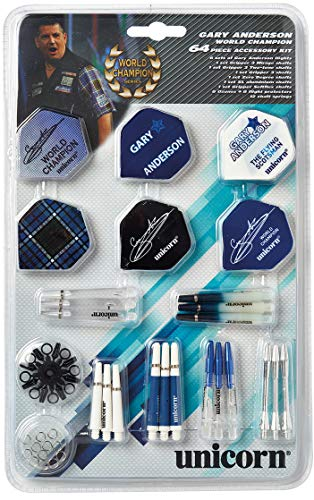 Unicorn Gary Anderson Tune up Kit/Darts Zubehör-Set - 64 Stück