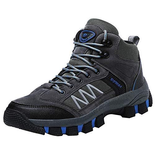 Zapatillas de Senderismo para Hombre ZARLLE Calzado de Senderismo y multifunción para Hombre Leather Lace-ups Trail Camping Sneaker para Outdoor Walking Travel Zapatos Botas de Trabajo 39-45