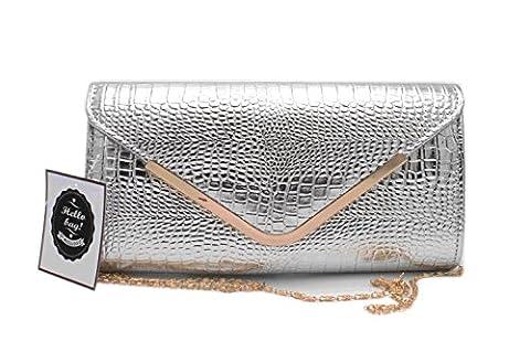 Hello Bag! , Damen Clutch silber silber