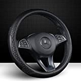 """Best Steering Wheel Covers - Leather Car Steering Wheel Cover Universal Fit 37-39CM/15"""" Review"""