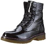 BULLBOXER Damen Lace-up Combat Boots, Schwarz (Black), 37 EU