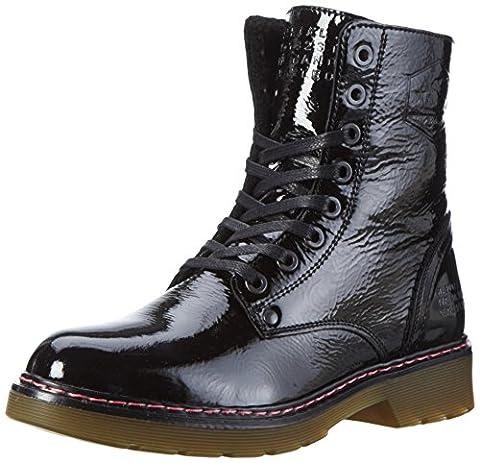 Bullboxer Damen Lace-Up Boots Combat, Schwarz (Black), 40 EU
