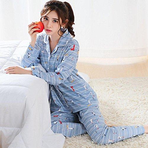 e0e0e94ab9 moxin Pijamas de Las Mujeres otoño y el algodón de Invierno de Manga Larga  Servicio de Servicio Bata de Noche