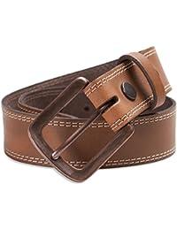 Hawkdale - Herren Gürtel aus Vollnarbenleder mit Naht-Detail - Breite 40 mm - mit Kupferschnalle - # 8R-F58-400
