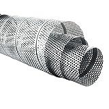 MKK - Wickelfalzrohr Perforiert Verzinkt 1 m Lang 5 mm Lochblech Ø 80 x Ø 200 mm 100 mm