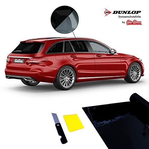 Auto Tönungsfolie Sonnenschutz-Folie 76x300cm mittlere 75% Tönung in der Farbe tief-schwarz für Fenster-Scheiben
