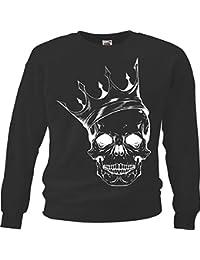 """Sweatshirt """"Skull - Totenschädel - Totenkopf - Schädel - Rocker - Biker"""" in Schwarz"""