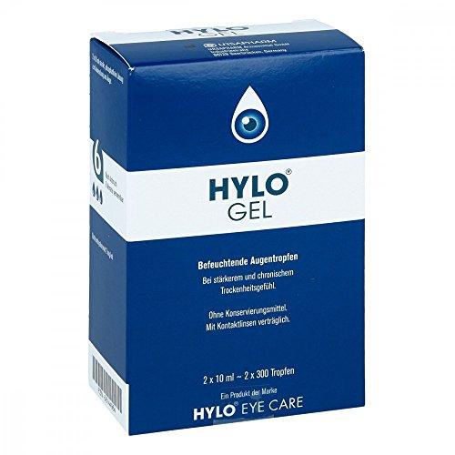 HYLO GEL Augentropfen, 2x10 ml Gel (Schmerzen Augentropfen)