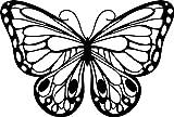 Marabu 028700004 - Silhouette-Schablone Romantic Butterfly, 15 x 15 cm